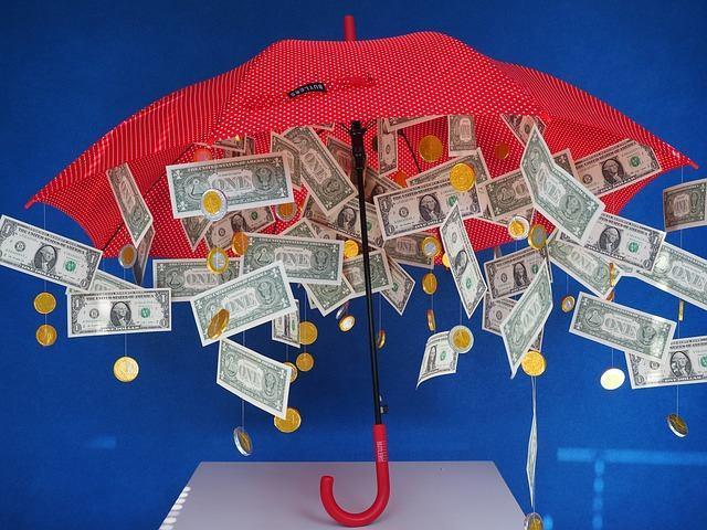 Wohlstand durch Geldaufstellungen